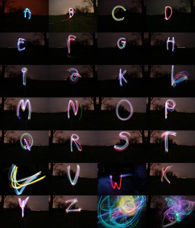 Inhalt Leuchtalphabet A-Z