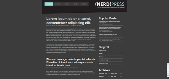 (Nerd)Press Theme Demo_1255790855563
